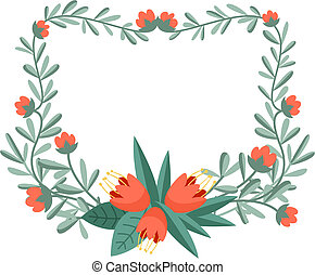 Floral frame for your design projects