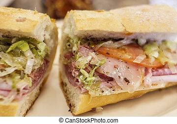 Fresh Italian Sub Sandwich - A fresh sandwich of italian...