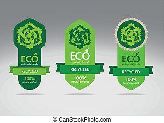 Eco Recycle Label Set