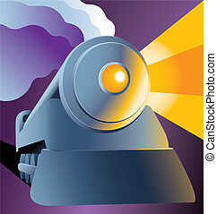 Steam train - Vector illustration of a steam train