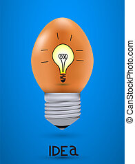 Vector concept egg with light bulb Eps10