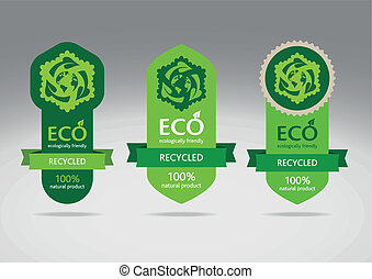 Eco recycle labels