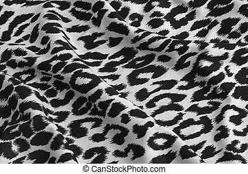 Animal print on fabric White leopard, tiger Look at my...
