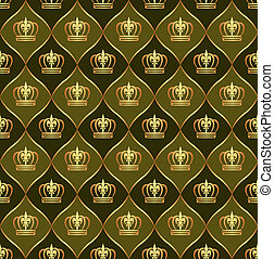 brown background with crowns