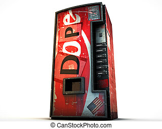 vending machine isolated on white background