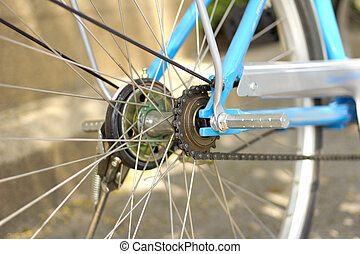 Bicycle - old bicycle wheel transport
