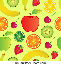 seamless fruits background