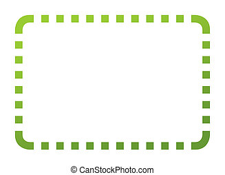 Eco green coupon - Blank eco green coupon with clipping path...