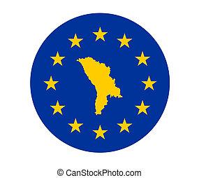 Moldova European flag