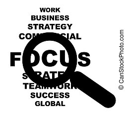 Business focus sign - Conceptual business focus sign...