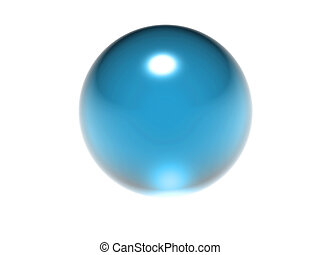 abstract blue ball on a white background