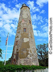 Bald Head Lighthouse - Old lighthouse on Bald Head Island...