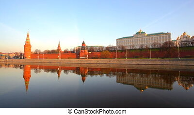 Moscow,type to the Moscow Kremlin and the river