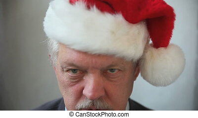 Jingle Bells read by grumpy man - irritated older man reads...