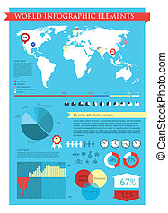 Information graphics elements settled down in style and...