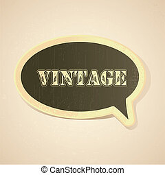 Vintage Chat Bubble