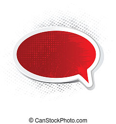Grungy Chat Bubble - illustration of chat bubble with grungy...