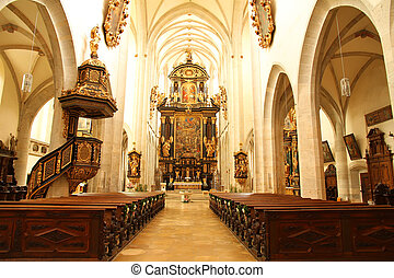 Interior of the Cathedral of Kaisheim - The Interior of the...