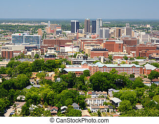 Downtown Birmingham, Alabama - Metropolitan Skyline of...