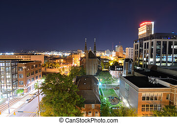 Downtown Birmingham, Alabama - the skyline of downtown...