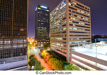 Urban Birmingham, Alabama - Urban scen along 5th Ave in...