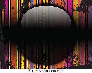 Glass Circle Background Stripes Black