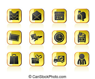 Post and correspondence icons