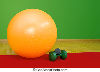 Fitness Ball and Weights