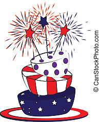 4th july cake - American forth july independence day cake...