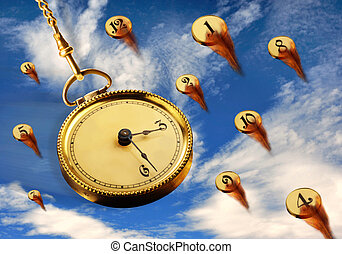 Pocket Watch. - Pocket watch in the sky.