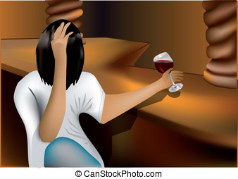 alcoholic intoxication - intoxication of young man. vectop...