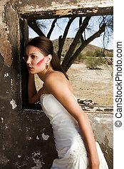 Bride in Grunge Scene