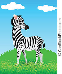 zebra in the wild - illustration of zebra in the wild