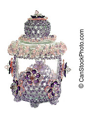 craft beaded crystal as a decoration on the jar