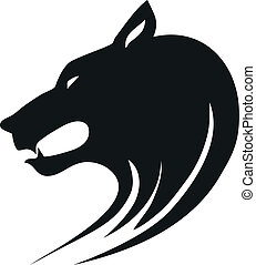 Wolf head - Tribal wild wolf. Tattoo style vector.