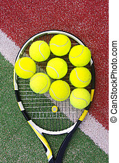 racket with balls