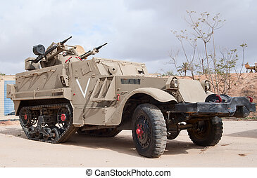 M3 half-track APC with anti-air cannons