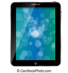 Black abstract tablet pc on white background vector illustration