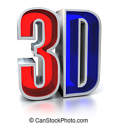 3d movie sign illustration