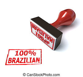 brazilian stamp 3d illustration