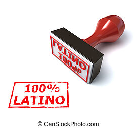 Latino stamp 3d illustration