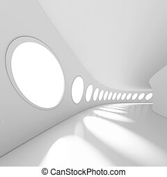 Futuristic Architecture Background - 3d Illustration of...
