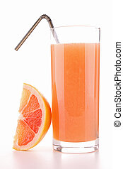 isolated grapefruit juice