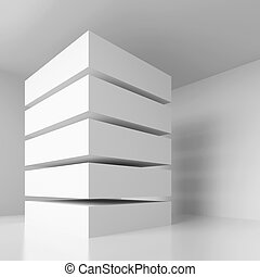Abstract Architecture Background - 3d Illustration of...
