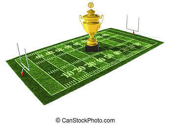 American football field - American football field isolated...