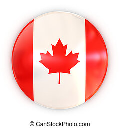 badge - Canadian flag 3d illustration