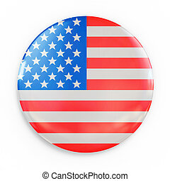 badge - US flag