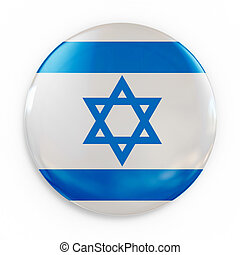 badge - Israel flag 3d illustration