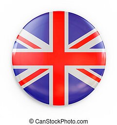 flag badge - Great Britain 3d illustration