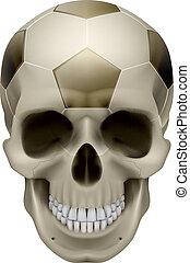 Human Skull. Football design. Illustration on white...